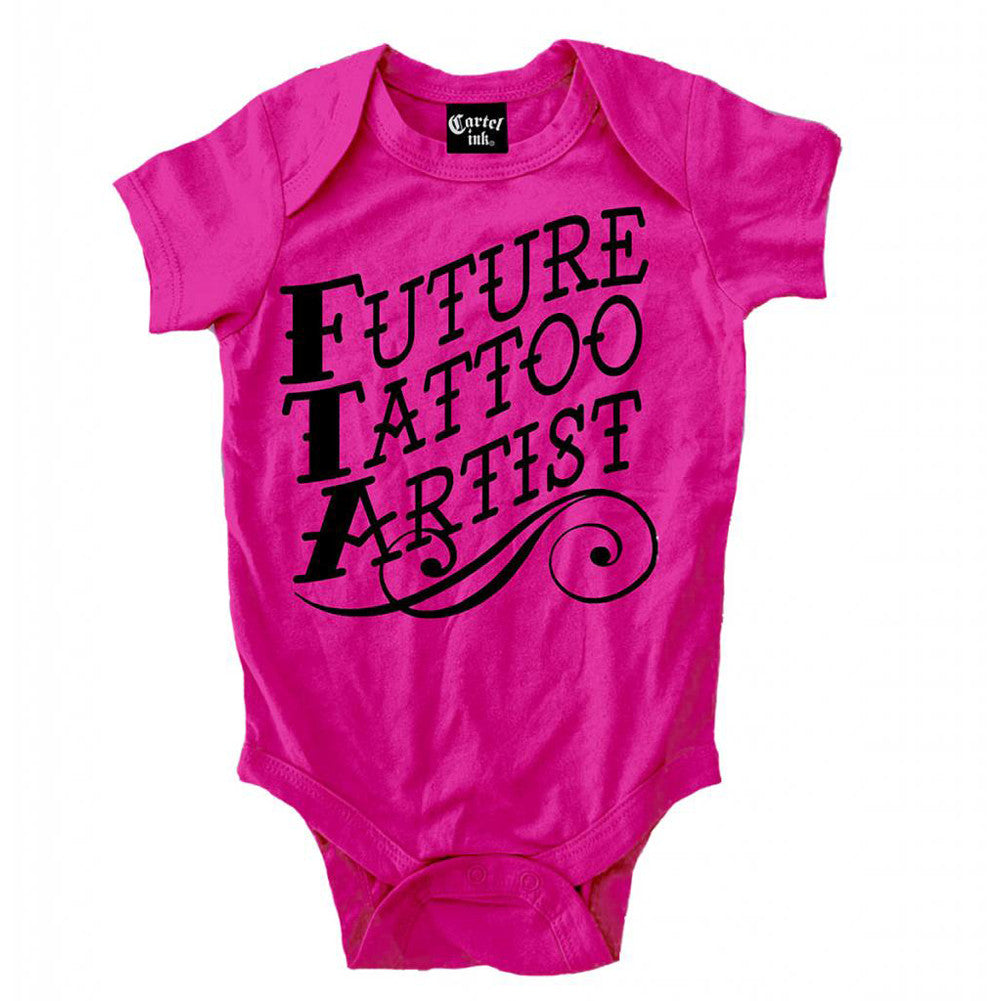 Kids Cartel Ink Future Tattoo Artist Infant One Piece Baby Pink Inked Lifestyle