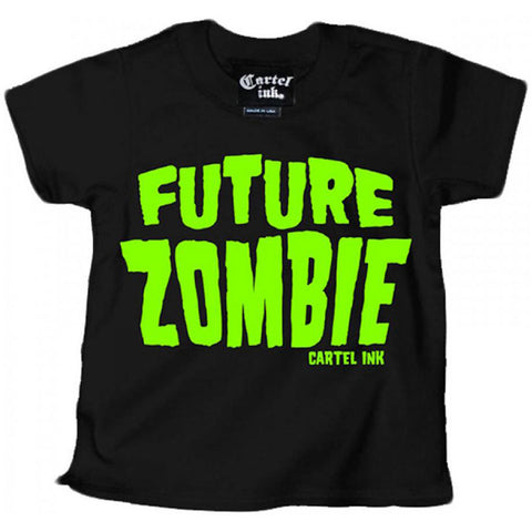 Kid's Cartel Ink Future Zombie T-Shirt Black Baby Toddler