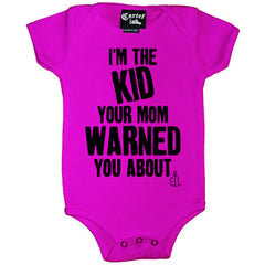 Kid's Cartel Ink I'm The Kid Your Mom Warned You About One Piece Pink Punk