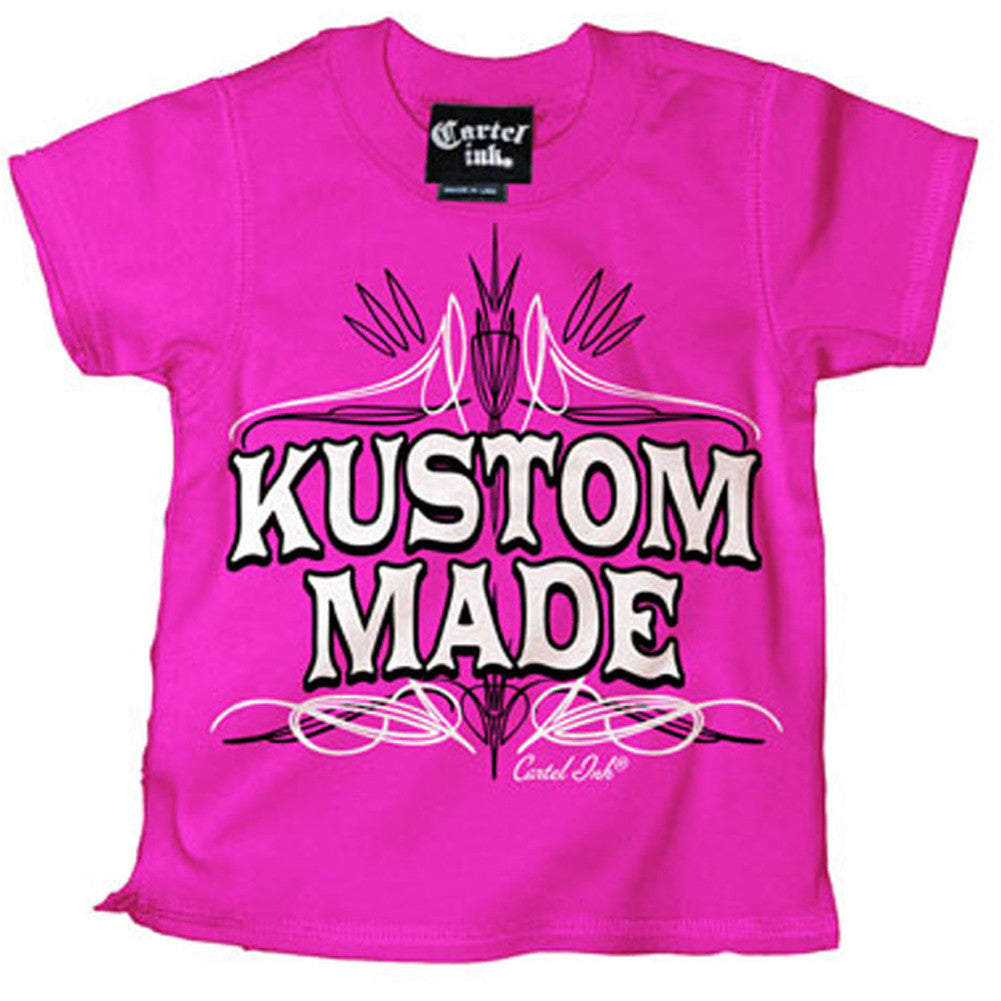 Kid's Cartel Ink Kustom Made T-Shirt Pink Hot Rod Pinstriping Baby Toddler