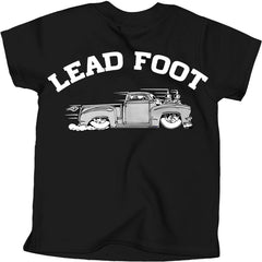 Kid's Cartel Ink Lead Foot T-Shirt Black Hot Rod Truck Kustom Kulture Toddler