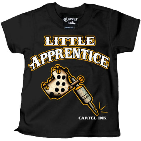 Kid's Cartel Ink Lil Apprentice T-Shirt Black Tattoo Artist Ink Life Lifestyle
