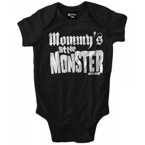 Kid's Cartel Ink Mommy's Little Monster One Piece Black Rock Social Distortion