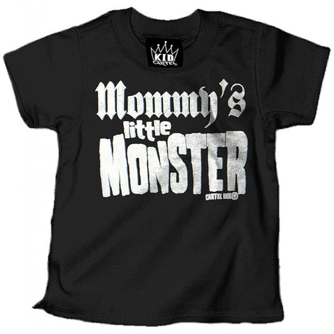 Kid's Cartel Ink Mommy's Little Monster T-Shirt Black Punk Rock