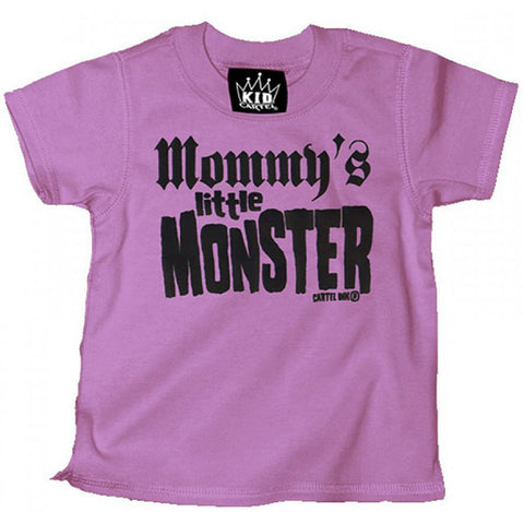 Kid's Cartel Ink Mommy's Little Monster T-Shirt Pink Punk Rock