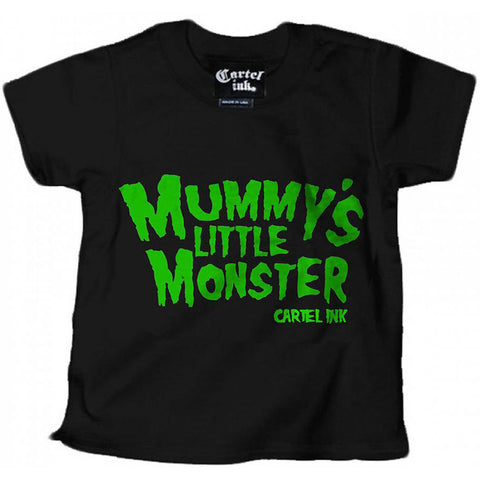 Kid's Cartel Ink Mummy's Little Monster T-Shirt Black Punk Rock