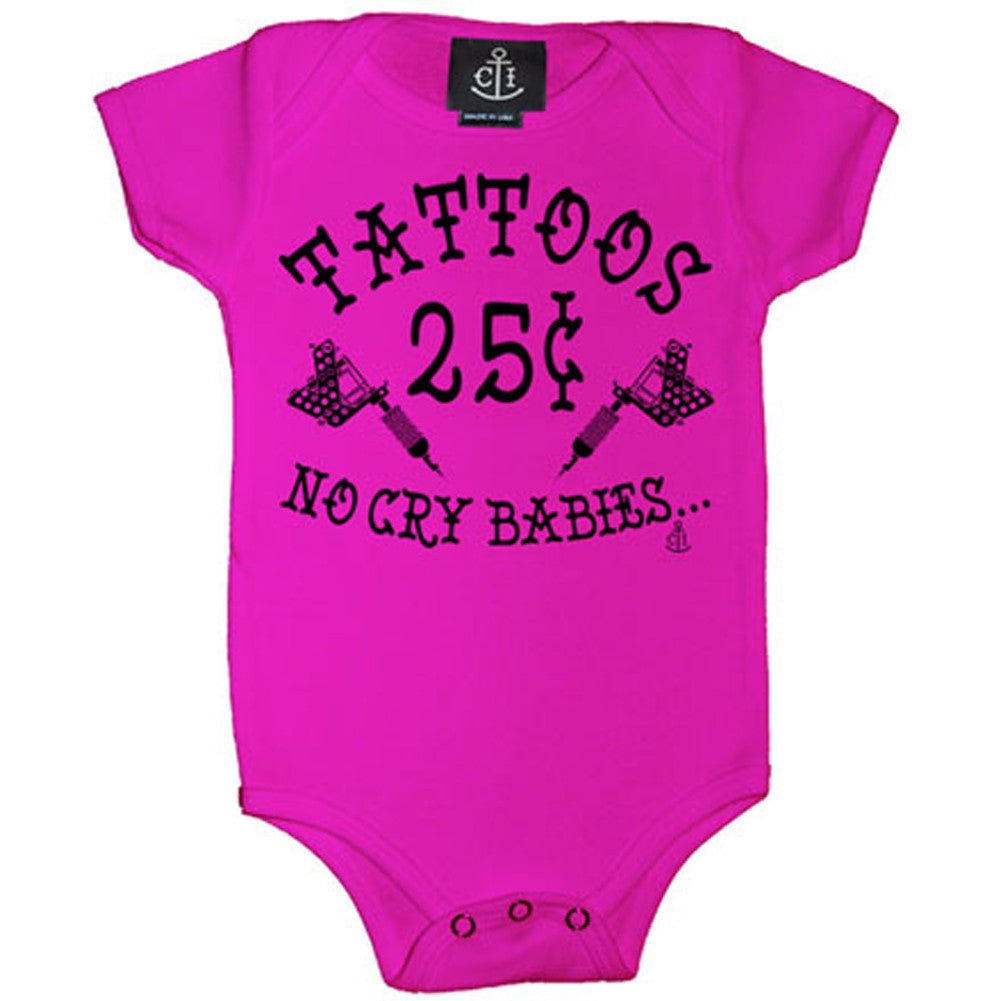 Kid's Cartel Ink Tattoos 25 Cents One Piece Hot Pink Tattoo Machines Artist