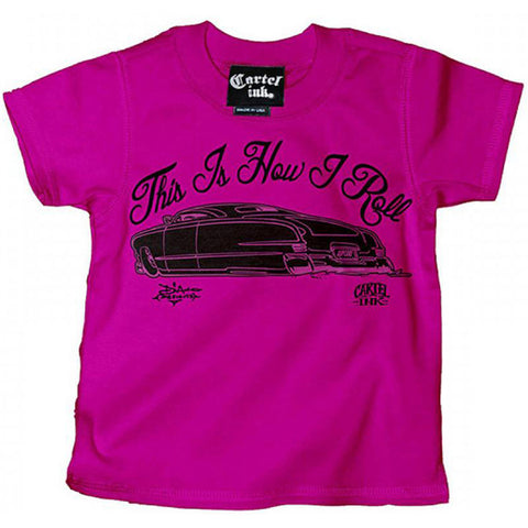 Kid's Cartel Ink This Is How I Roll Kupcake T-Shirt Pink Lead Sled Hot Rod