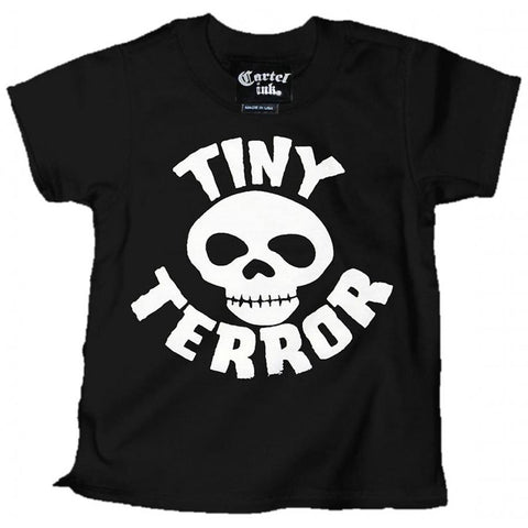 Kid's Cartel Ink Tiny Terror T-Shirt Black Skull Baby Toddler