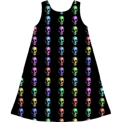 Kid's Mayhem Marilyn Rainbow Skulls Dress