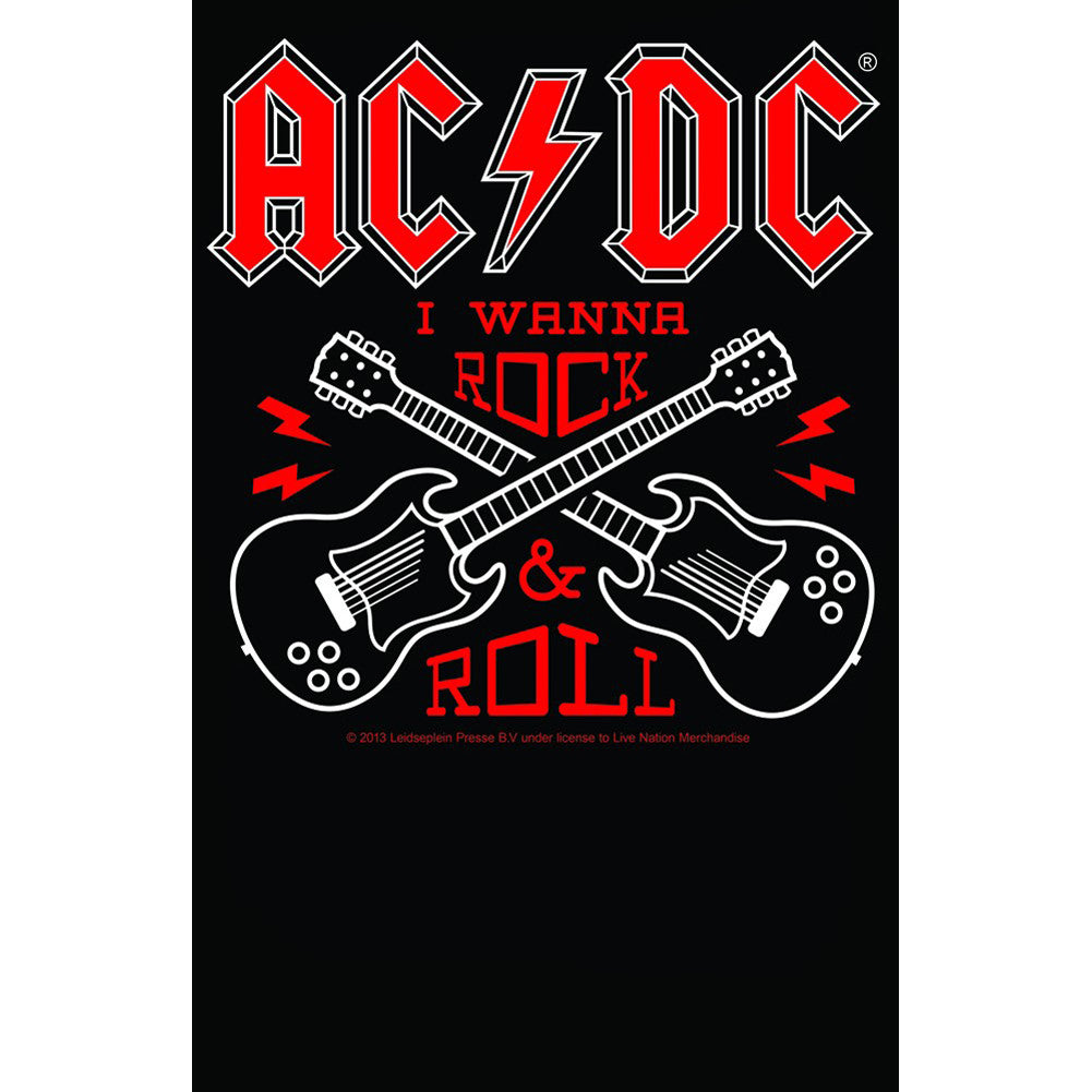 Kid's Sourpuss AC/DC Rock N Roll T-Shirt Logo Guitars Music Metal