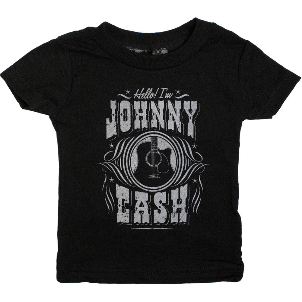 Kid's Sourpuss Johnny Cash Hello T-Shirt Rockabilly Country Music