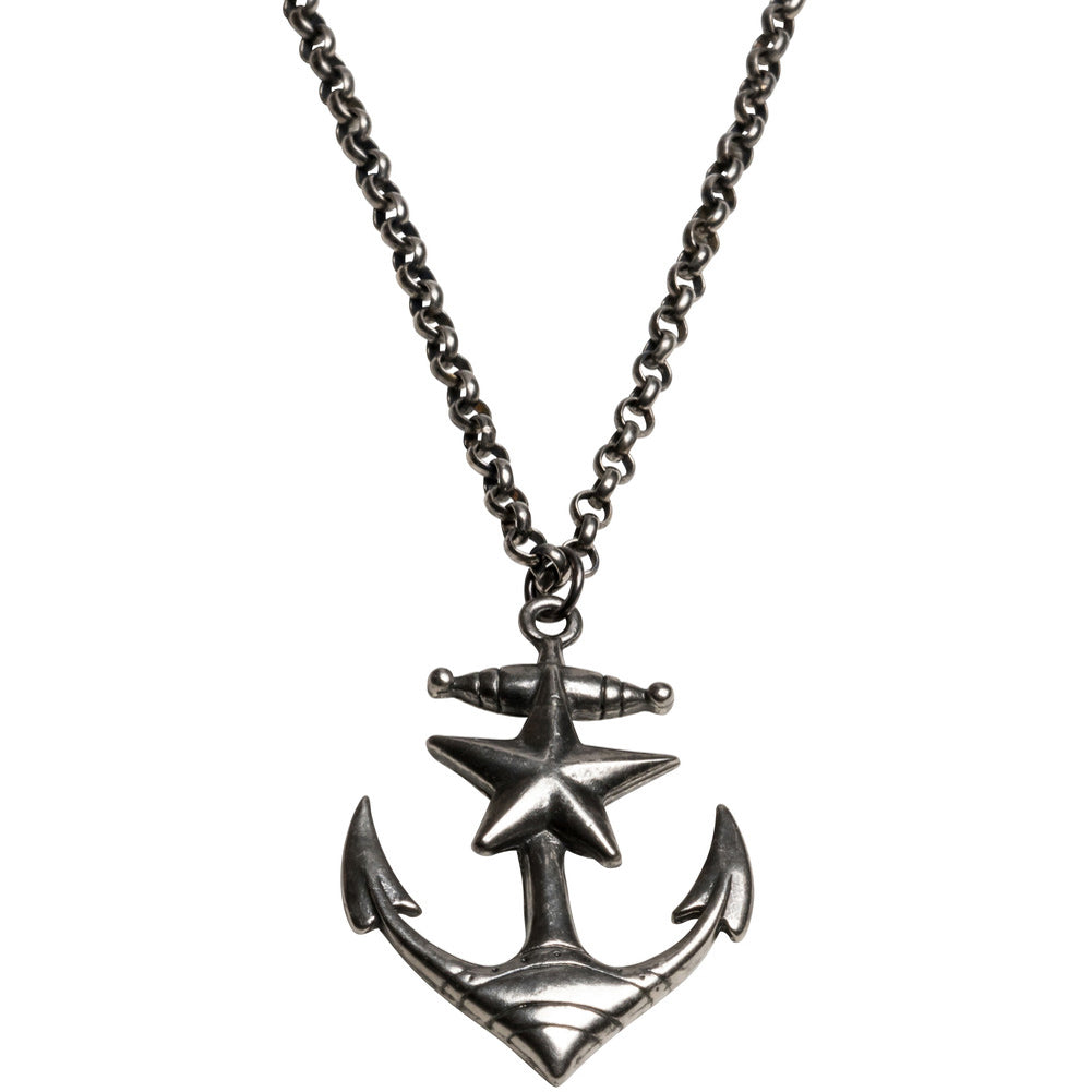 Kitsch N Kouture Anchors Away Necklace Nautical Star Tattoo