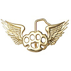 Kitsch N Kouture Flying Knux Belt Buckle Winged Brass Knuckles