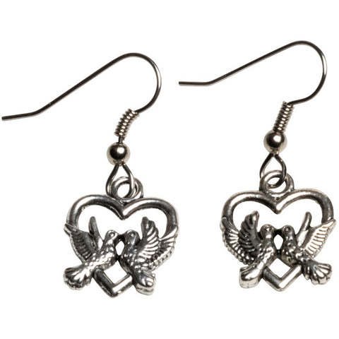 Kitsch N Kouture Love Dove Earrings Heart