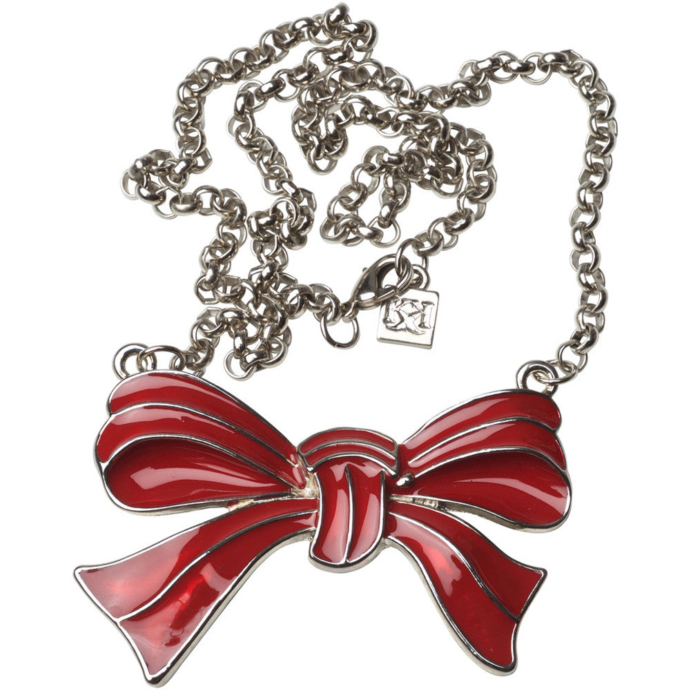 Kitsch N Kouture Red Bow Necklace
