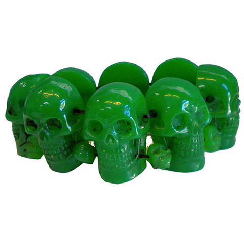 Kreepsville 666 Green Skull Collection Bracelet Horror Halloween