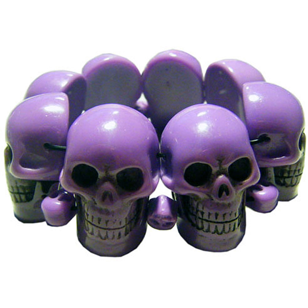 Kreepsville 666 Purple Skull Collection Bracelet Horror Halloween