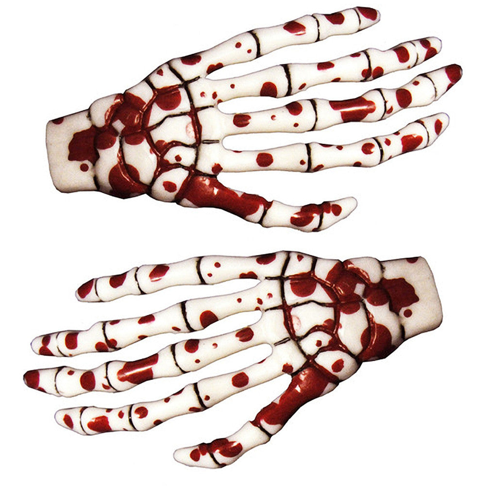 Kreepsville 666 Skeleton Bone Hand Hairslides Blood Splattered Horror Halloween