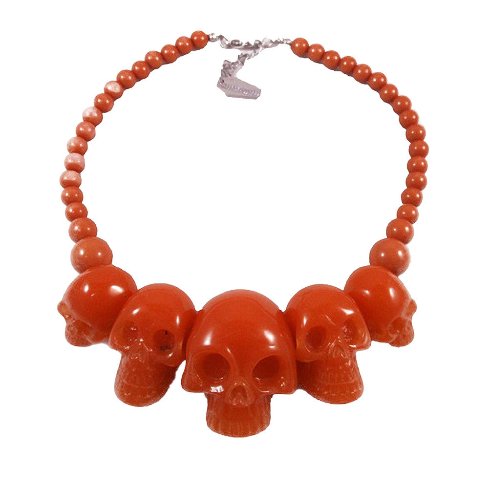 Kreepsville 666 Skull Collection Necklace Red Psychobilly Halloween
