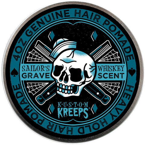 Kustom Kreeps Sailor's Grave Heavy Pomade Rockabilly Skull Nautical Cobwebs