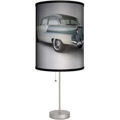 Lamp-In-A-Box 1955 Bel Air Green and White Table Lamp GM Vintage Classic Car