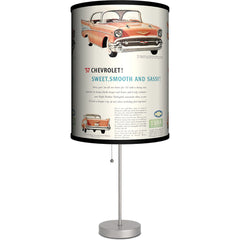 Lamp-In-A-Box 57 Chevy Sweet Smooth Sassy Table Lamp GM Retro Vintage Classic