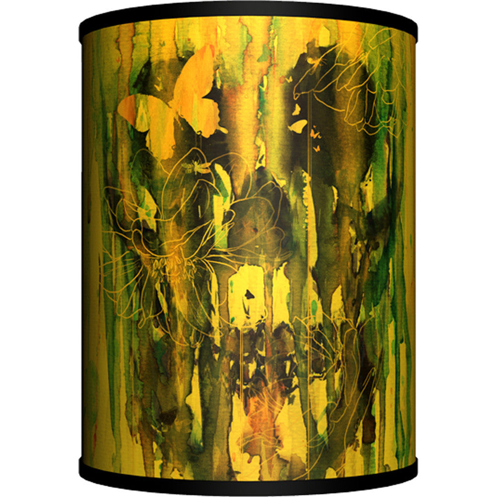 Lamp-In-A-Box Birth Of Oblivion, Color Table Lamp Dripping Skulls Butterfly