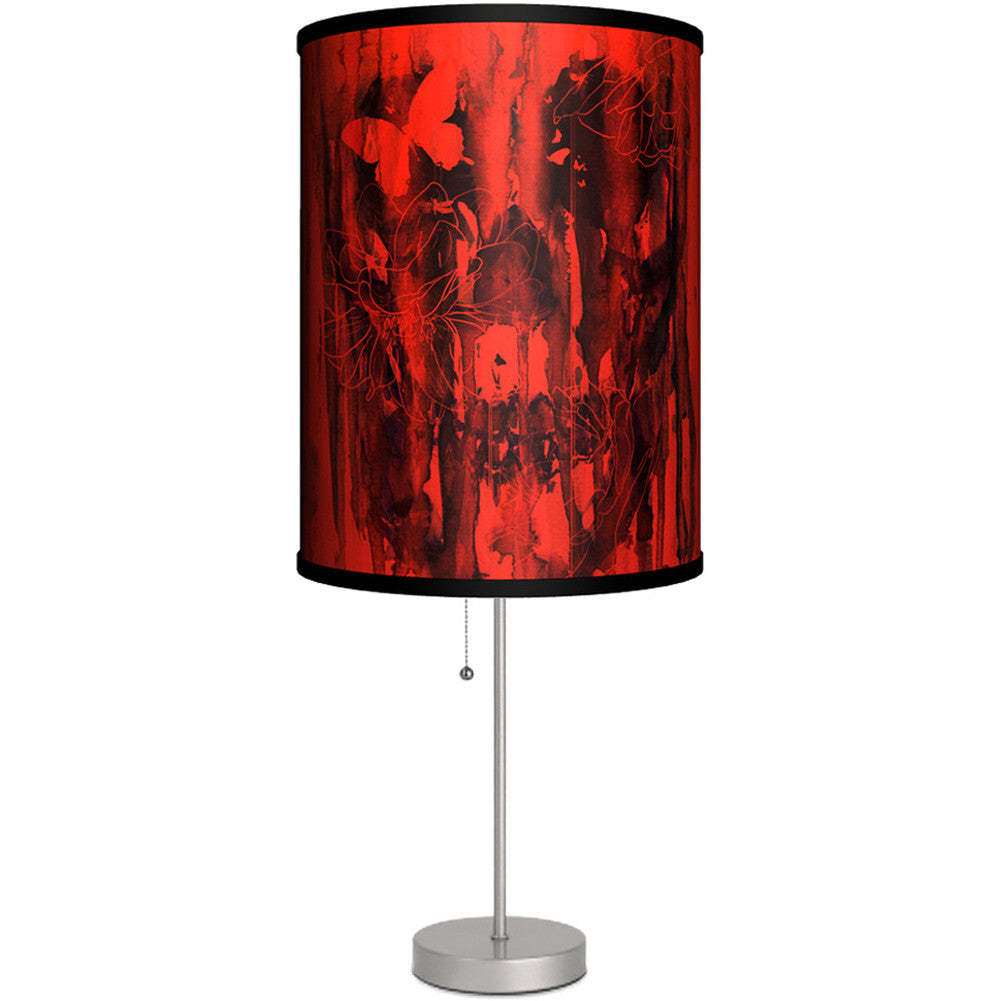 Lamp-In-A-Box Birth Of Oblivion Table Lamp Dripping Skulls Butterfly