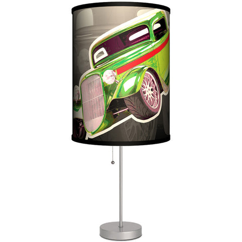 Lamp In A Box Hot Rod Green Table Lamp