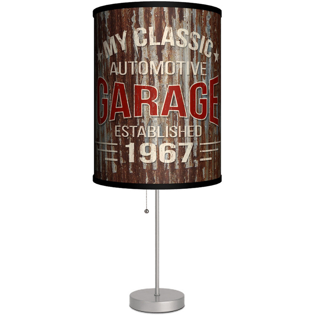 Lamp-In-A-Box My Classic Automotive Garage Table Lamp Gearhead