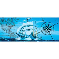 Lamp-In-A-Box Nautical Ship Table Lamp Compass Map Ocean
