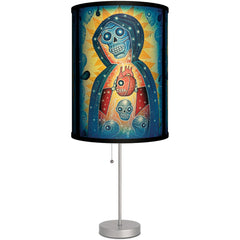 Lamp-In-A-Box Santa Muerta Table Lamp Heart Skulls Latino