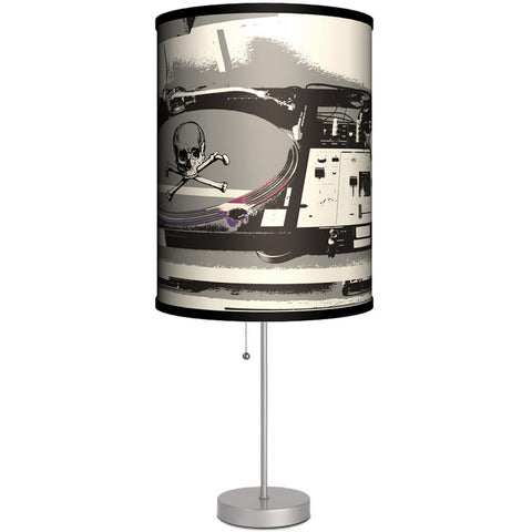 Lamp-In-A-Box Turntable Table Lamp Skulls DJ Music