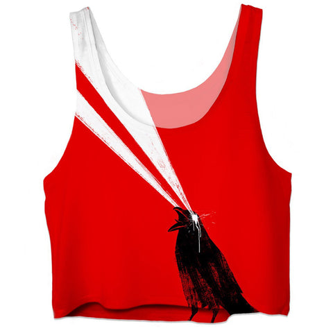 Laser Crow Crop Top