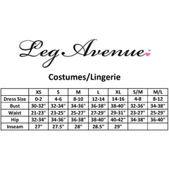 Leg Avenue 3 Piece Stud Accented Bra and Panty Set Black Sexy Lingerie
