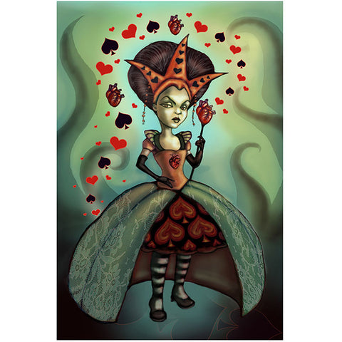 Levin Queen of Hearts Fine Art Print by Diana Levin Alice In Wonderland