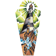 Light House Coffin Canvas Giclee by Jay Boss Tattoo Nautical