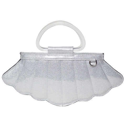 Lux De Ville Mermaid Mini Tote Silver Thunderstruck Sparkle Shell Nautical