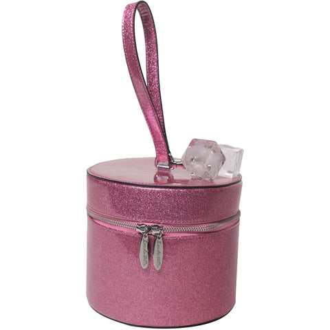Lux De Ville Mini Taylor Hat Box Pink Bubbly Sparkle Retro Rockabilly Vintage