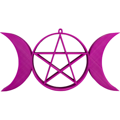 Mayhem Marilyn Pentagram Triple Goddess Wall Décor Magenta Pastel Goth Witch