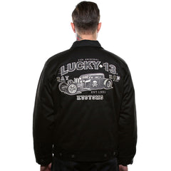 Men's Lucky 13 Rat Rod Chino Lined Jacket Rockabilly Hot Rod Muscle Car