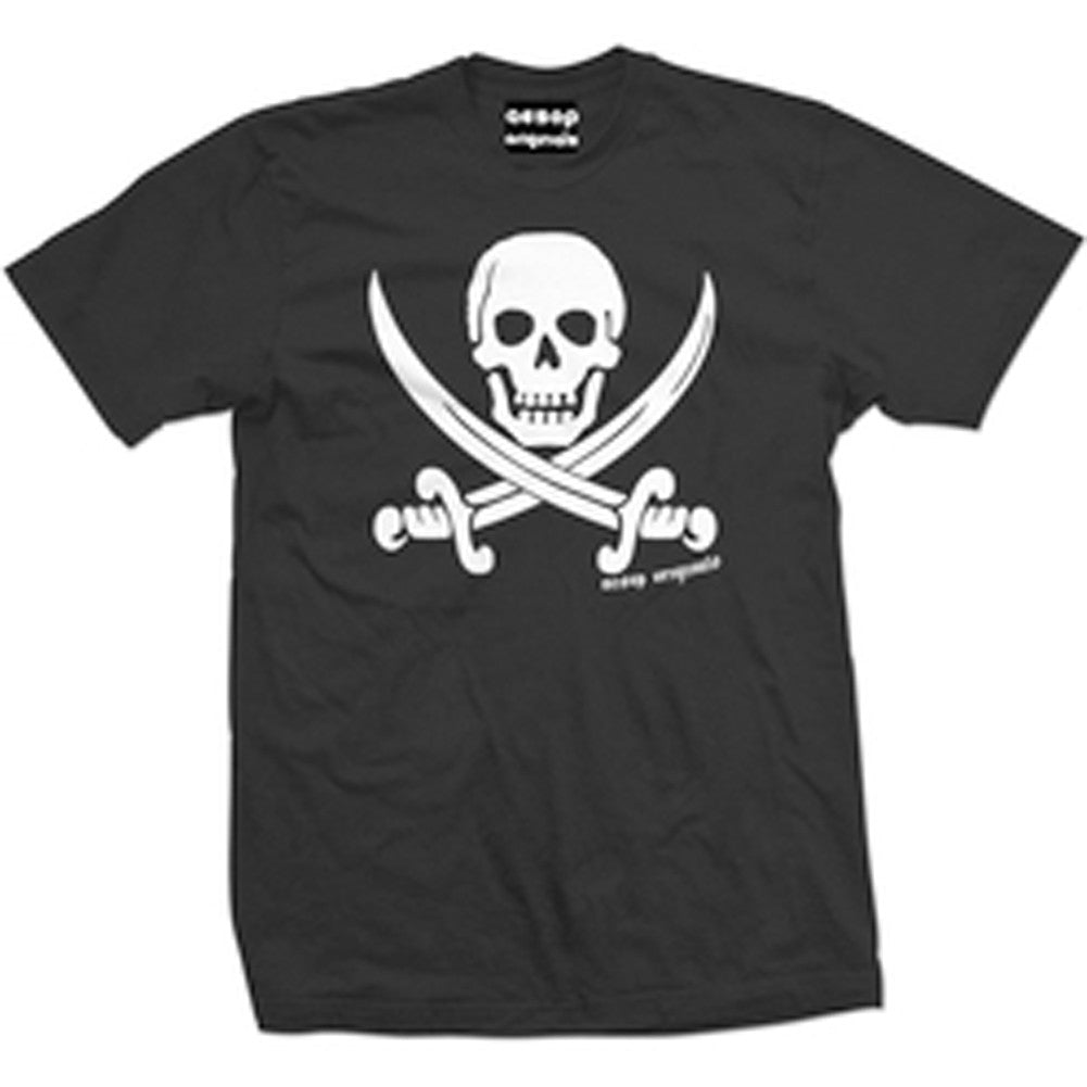 Men's Aesop Originals Jolly Roger Pirate Flag T-Shirt Black