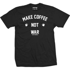 Men's Aesop Originals Make Coffee Not War T-Shirt Black Coffee Lover