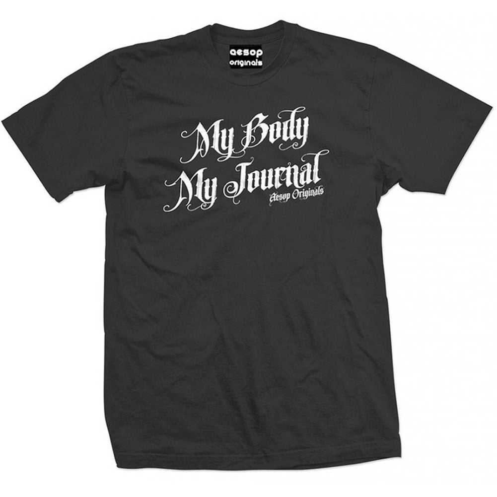Men's Aesop Originals My Body My Journal T-Shirt Tattoo Ink Inked Tattooed