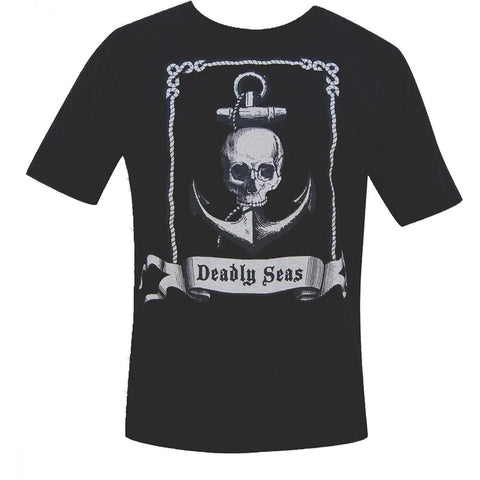 Men's Annex Clothing Deadly Seas Skull Anchor Tattoo T-Shirt Black