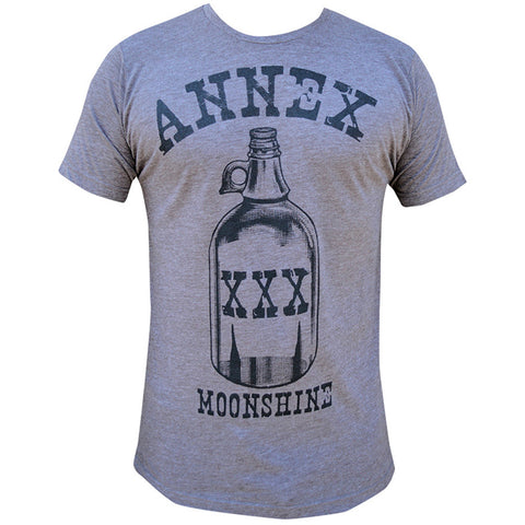 Men's Annex Clothing Moonshine T-Shirt Heather Brown Bottle Vintage Inspired