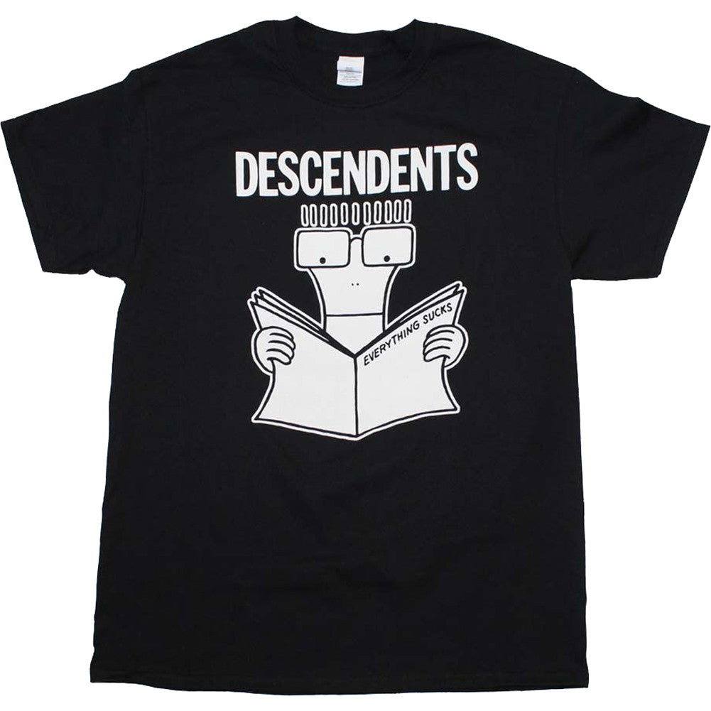 Men's Descendents Everything Sucks T-Shirt Black Punk Rock Band Music