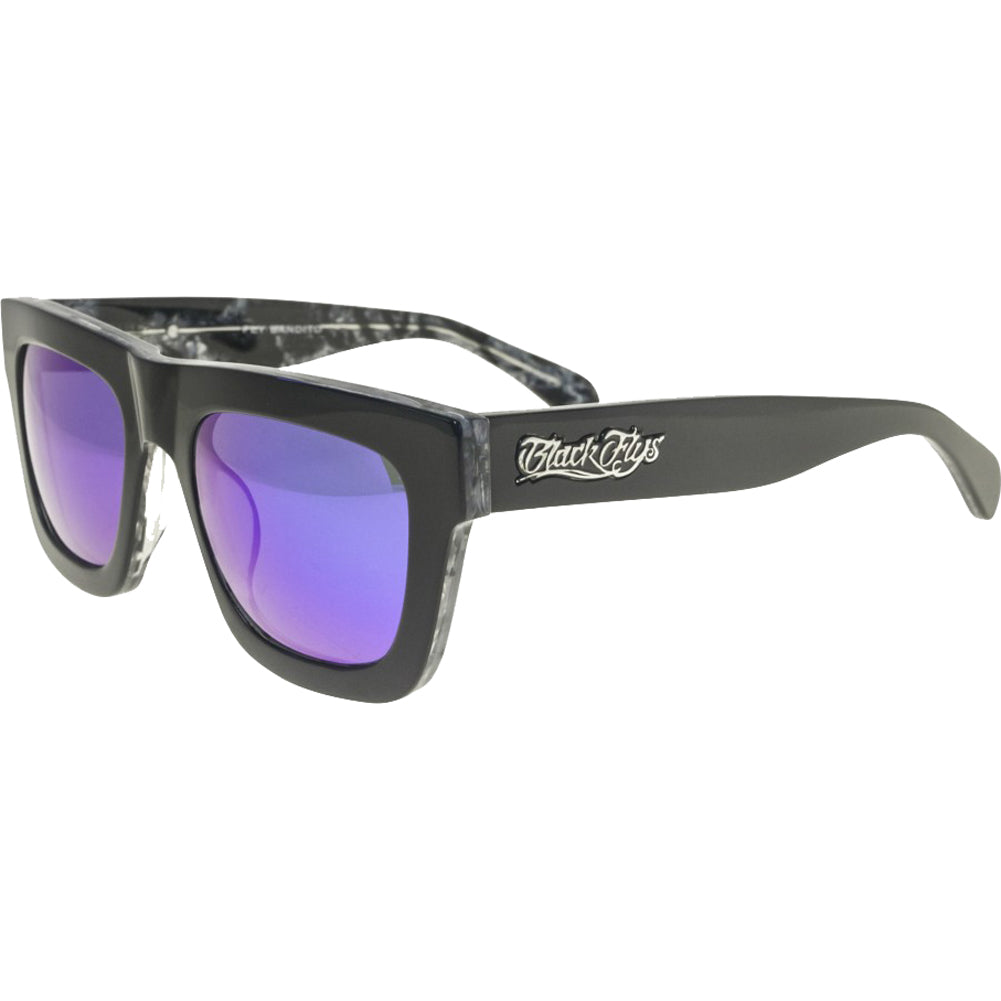 Men's Black Flys Fly Bandito Sunglasses Shiny and Matte Black