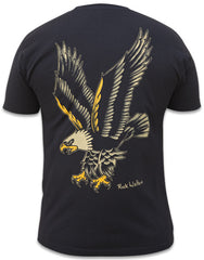 Men's Eagle T-Shirt Black By Rick Walters Traditional Tattoo Art
